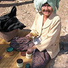 Poor Lao Loum Farm Widow Three Months Before Her Death to Cancer Preparing to Chew Betel Nut, Tahsang Village, Isaan region in Thailand