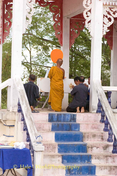 Local Monk Giving Last Blessing