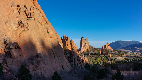 Garden of the Gods at dusk.