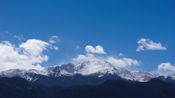 Blowing snow on Pike's Peak.