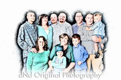 002 Denise & Family May 2010 - Everyone (color sketch)