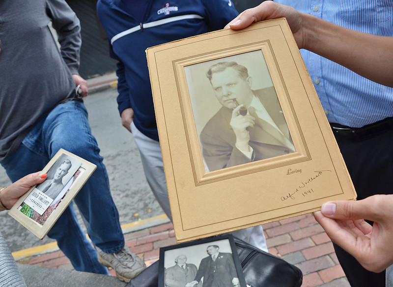 A photo of former Fitchburg Mayor Alfred Wollacott. Descendants of Wollacott met with Economic Director Jerry Beck Saturday morning to discuss featuring the plaque in a more prominent place on Main Street. SENTINEL & ENTERPRISE / Ashley Green