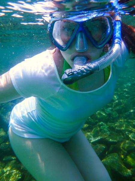 Hannah snorkeling, Destin (August 2013)