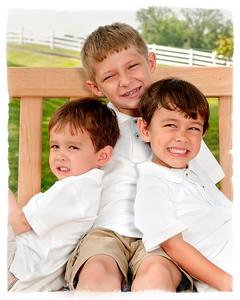 002 Doan Family At Purina Farms 6-11 - Nicholas Dakota Jaden (8x10)