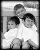 002 Doan Family At Purina Farms 6-11 - Nicholas Dakota Jaden (8x10) soft b&w