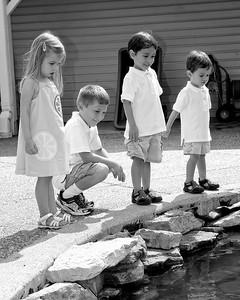 008 Doan Family At Purina Farms 6-11 - Alexa Dakota Jaden Nicholas (8x10) b&w