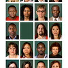 We Are…<br /> A key ingredient in the role of identity is the passport image. Photographic identities are a form of control, but they are also seen as a sign of belonging, acceptance and empowerment. For some, status can be fragile, with expiry dates constantly looming. The use of simple words illustrates how language can constitute social reality and affect people's lives.  This work plays on the use of the passport image to interpellate the visible and invisible identities of people who were born abroad, but are now living in Ireland. 2008.