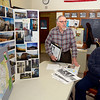 """Leominster Historical Commission members John Proietti (left) and Rocko """"Rocky"""" Palmieri (right) talk about an ongoing project to document the history of Italians in Leominster, Friday.<br /> SENTINEL & ENTERPRISE / BRETT CRAWFORD"""