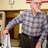 """Leominster Historical Commission member John Proietti talks about an ongoing project  he and Rocko """"Rocky"""" Palmierito (not pictured) are working on to document the history of Italians in Leominster, Friday.<br /> SENTINEL & ENTERPRISE / BRETT CRAWFORD"""