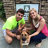 "Alex, ""Socks"" (now Moxie) and GPB staffer Lauren Anderson at Fulton County Animal services"
