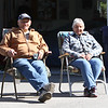 Dracut features. Charles and his wife Elaine Katin sit in the sun on their driveway on Hildreth Street. (SUN/Julia Malakie)
