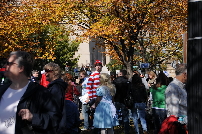 even Alice in Wonderland was at the Rally to restore Sanity