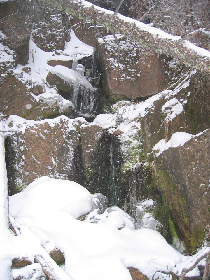 The Icefall, such as it is, in winter.