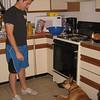 Josh, dog, kitchen... A standoff...