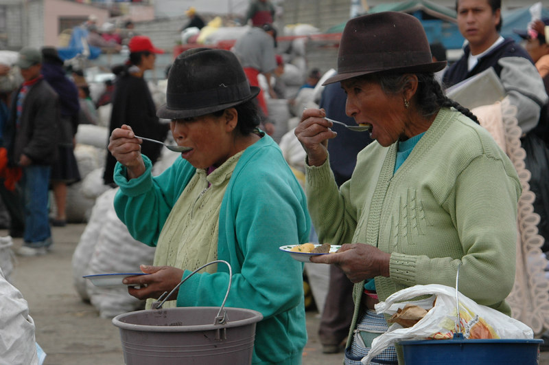 """Synchronicity""<br /> Ladies in Saquisili Market<br /> Ecuador"