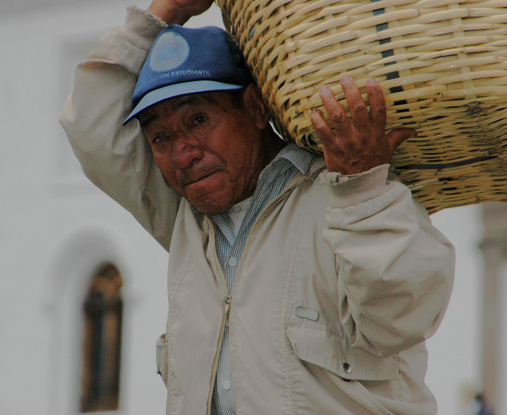 Vendor in Old Town<br /> La Plaza Gramde, Quito<br /> Ecuador