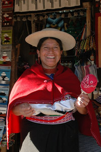 Lady Vendor La Mitad del Mundo Ecuador