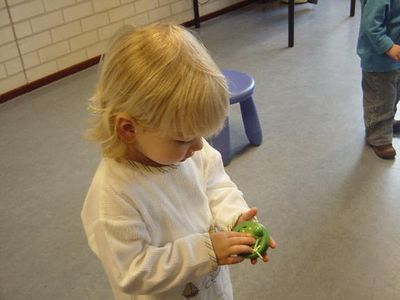 Elise loved them, especially as they were in the shape of frogs!