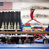 Elizabeth on the beam (sort of), Trevino's Gymnastics District Qualifier (Sep. 2013)