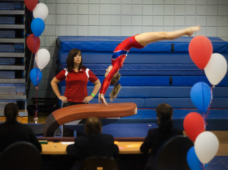 Vaulting, Achievers Gymnastics (TWU) (Sep. 2013)