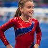 Elizabeth, Trevino's Gymnastics District Qualifier (Sep. 2013)