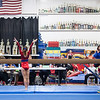 Elizabeth completing her beam routine, Trevino's Gymnastics District Qualifier (Sep. 2013)