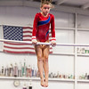 Elizabeth in her bar routine, Trevino's Gymnastics District Qualifier (Sep. 2013)