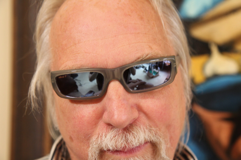 Portrait session of Eric Apoe and a portion of his sun glass collection, by Nick Shiflet, look inside and see what you can see.