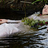 The shoot culminated in a homage to 'Ophelia' by Sir John Everett Millais