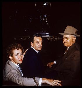 Estelle Sloane, Victor and former Louissana  Senator Bill (William C) Feazel  1952