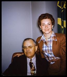 Estelle Sloan With friend and former Louisiana  Senator Bill (William C) Feazel 1952