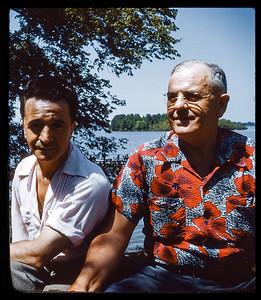 Victor and former Louisiana  Senator Bill (William C) Feazel 1952