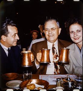 Restaurant 1952  Victor and former Louisiana  Senator Bill (William C) Feazel