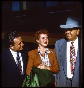 Estelle Sloan, Victor her husband with friend and former Louisiana  Senator Bill (William C) Feazel