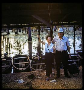 "Estelle Sloan and friend Bill Feazel whom she called ""daddy"" Shreveport 1951"