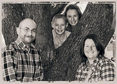 Estes at tree Reverse gray framed