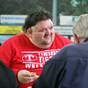 Bob Ethier of Lowell goes to the Spinners' annual Season Ticket Holder BBQ at LeLacheur Park.  (SUN/Julia Malakie)