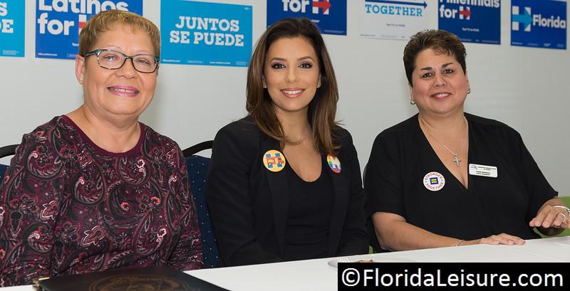 Eva Longoria Bastón campaigns for Hillary Clinton, Kissimmee, Florida - 14th October 2016 (Photographer: Nigel G Worrall)