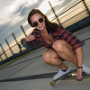 Long boarding photo shoot with Eveline Csomor on July 17, 2016 at the Windsor Parkade.