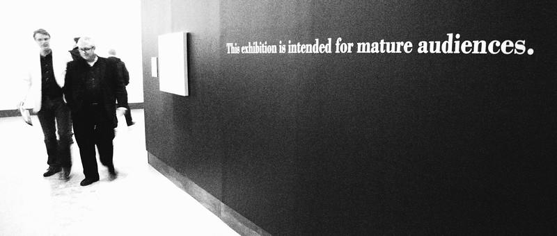 "Entryway to KW|AG presentation of ""Pandora's Box"" exhibition."