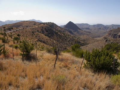 On day 2 we headed west for Pinto Canyon Road - the most scenic dirt road in Texas, in my opinion.  This is the view from the north end.
