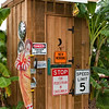 The ultimate in cool - your very own outhouse in your back yard.  Well done, Jose.