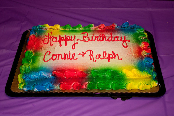 Time to celebrate Connie, Ralph, and Rachel's birthday (My bad for leaving Rachel's name off the cake.  Sorry Rachel.)