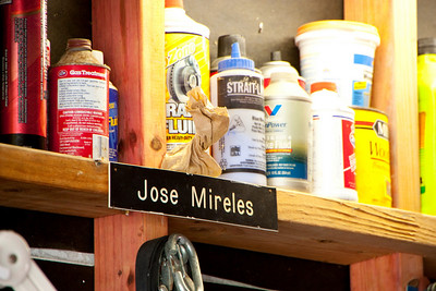 This is Jose's workshop.