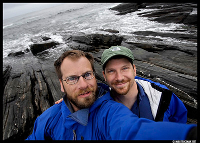 Brothers Stevie (right) and Mark Trockman on the coast in Southern Maine, July 2007.