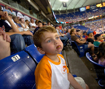 "Ike thinks to himself, ""I can't believe i ate the whole thing."" • Metrodome, Minneapolis"