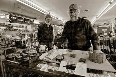 Lin and Sonny Ottinger, proprietors of Moab Rock Shop in Utah.