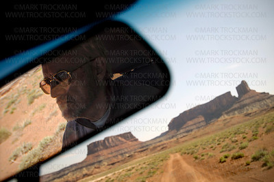 Intrepid sag wagon driver Pete Sheehan, White Rim Trail, Canyonlands National Park, Utah.