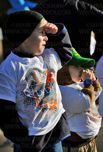 Second grader Jason Davenport, 7, left, and his bother Colton, 4, brave the early morning chill before the start of the Distance for Deephaven walk to raise funds for Deephaven Elementary Saturday, Oct. 2.  The school abandoned the long established fundraiser of selling candy and gift wrapping and the Deephaven Elementary's PTA created a fitness fundraiser that also builds community spirit.
