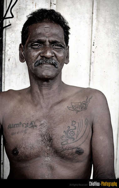 "So, I took a closer shot for this Indian uncle. :)(For the ""famous Tattoo"" as well) :D"